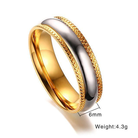 Gold-Color High Polished Matching Ring For Couples - LoveLuve