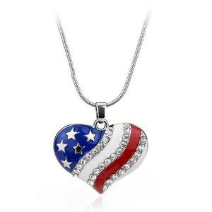 Image of USA Flag for 4th of July Independence Day Pendant Necklaces - LoveLuve