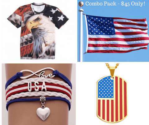One of The Best Selling USA Independence Day Combo Pack for 4th of July - LoveLuve