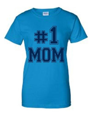 "Juniors Everybody Knows I'm The ""#1 MOM"" T-shirt - LoveLuve"