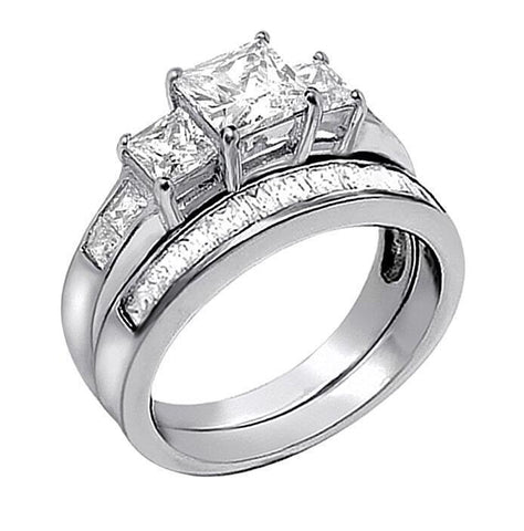 Trendy Jewelry His and Hers Bridal Matching Wedding Couple Rings - LoveLuve