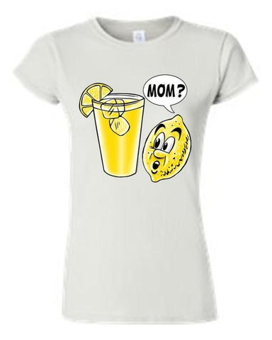 Juniors Funny Lemon Kid: Mom? T-shirt - LoveLuve