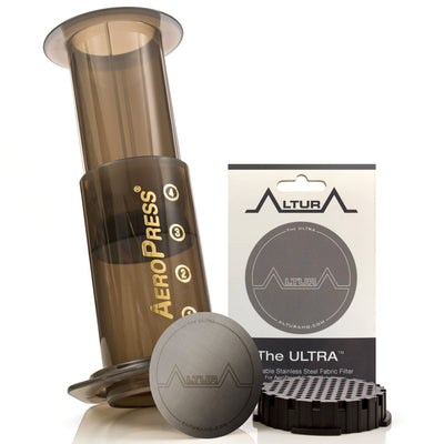 Altura Ultra Reusable Stainless Steel Fabric FIlter for Aeropress Coffee Makers