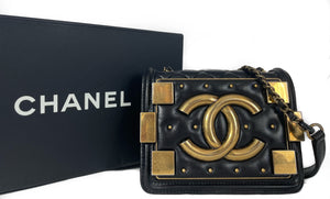 Chanel Boy Brick Studded Crossbody