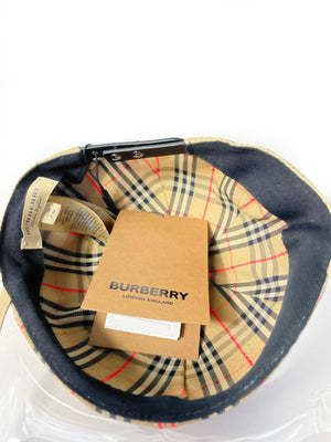 Burberry Clear Brim Check Baseball Hat