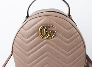 Gucci Marmont Chevron Backpack