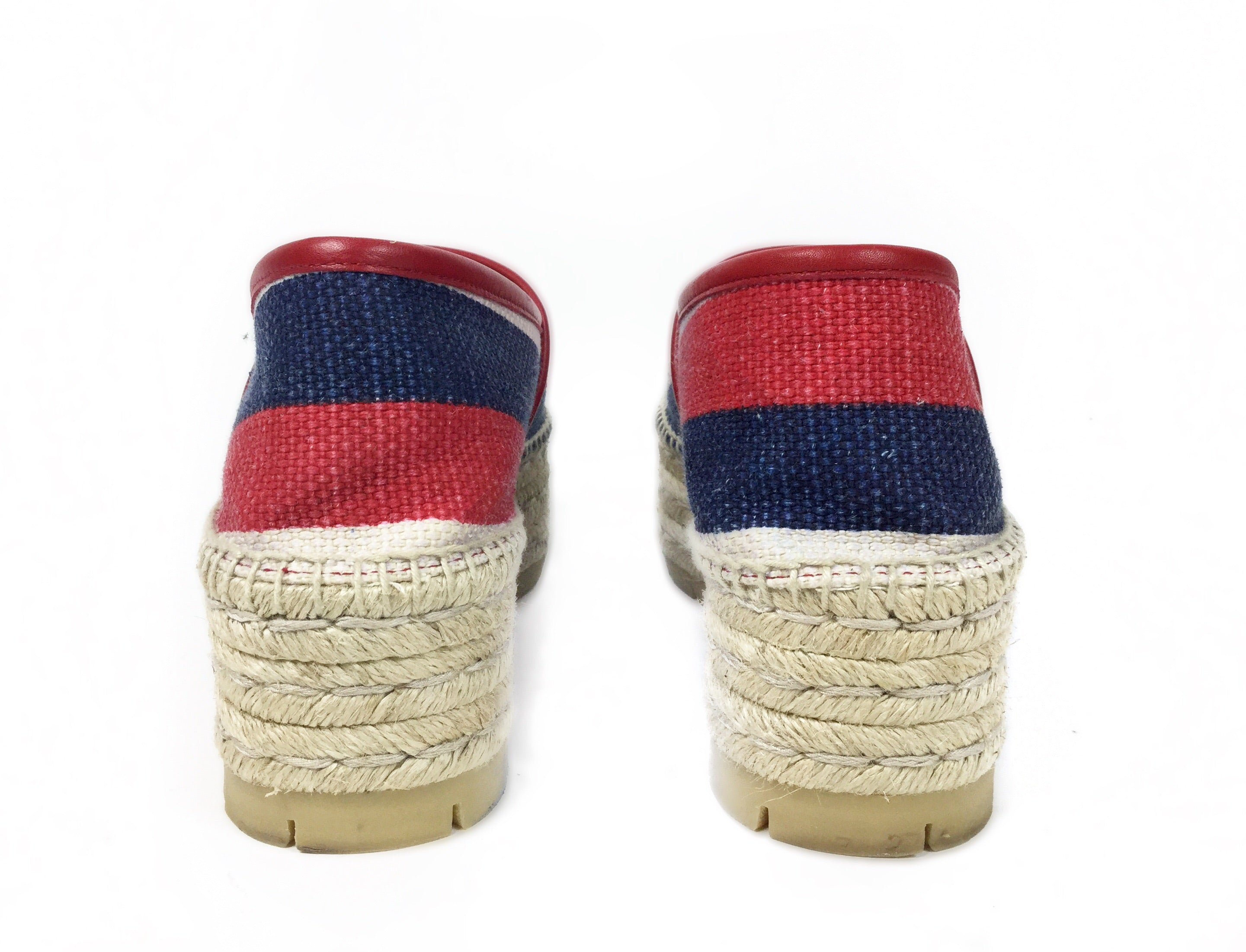 Gucci Striped Logo Espadrille 40