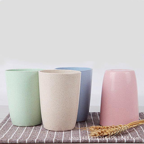 4 Bio-Degradable Wheat Straw Cups