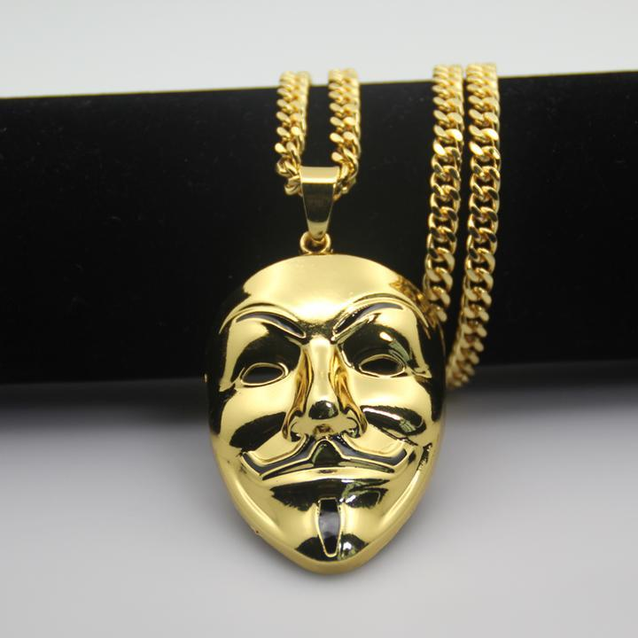 "14k Gold Anonymous Pendant With 30"" Chain"