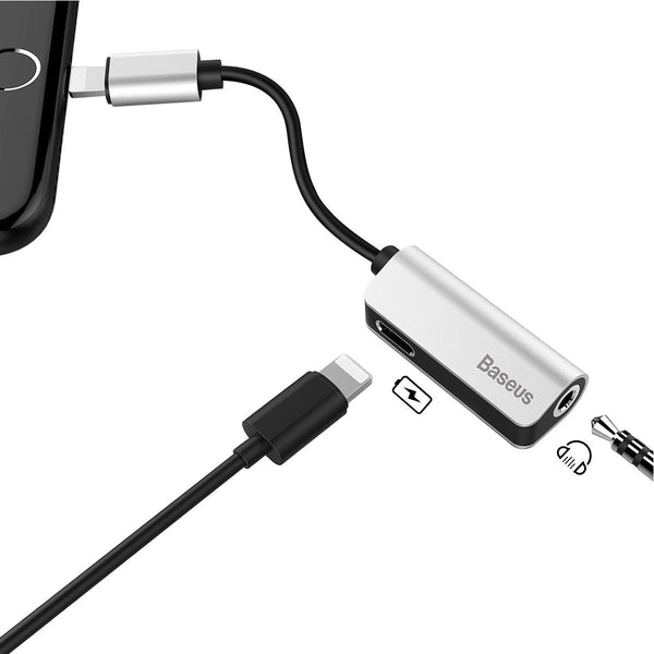 Baseus™ iPhone 7/8 Splitter - Listen To Music While Charging Your iPhone