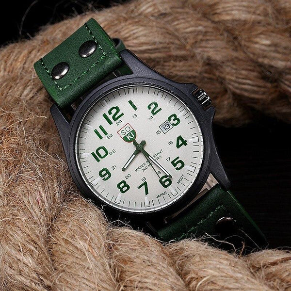 Vintage Military Watch With Date