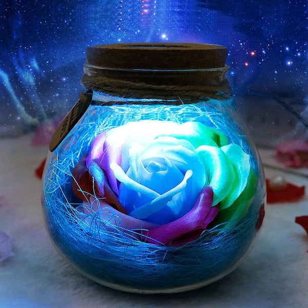 Rose Light Bottle - Remote Controlled
