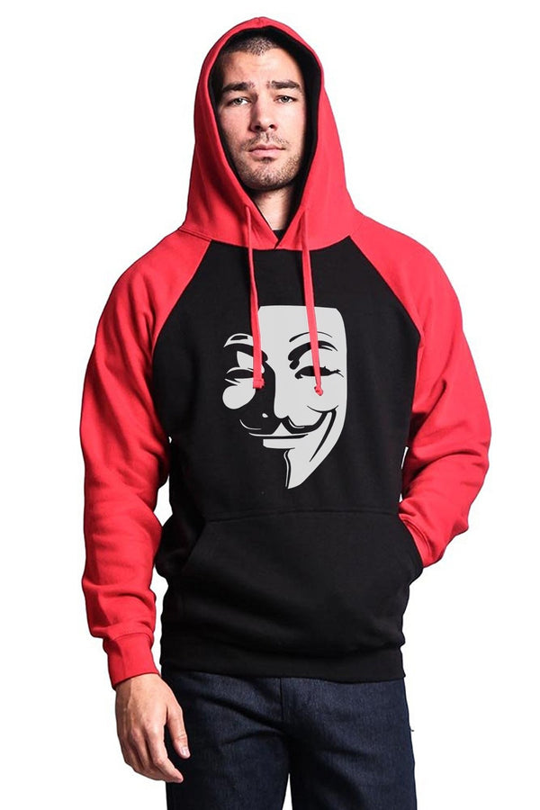 Anonymous Colored Guy Fawkes Hoodie
