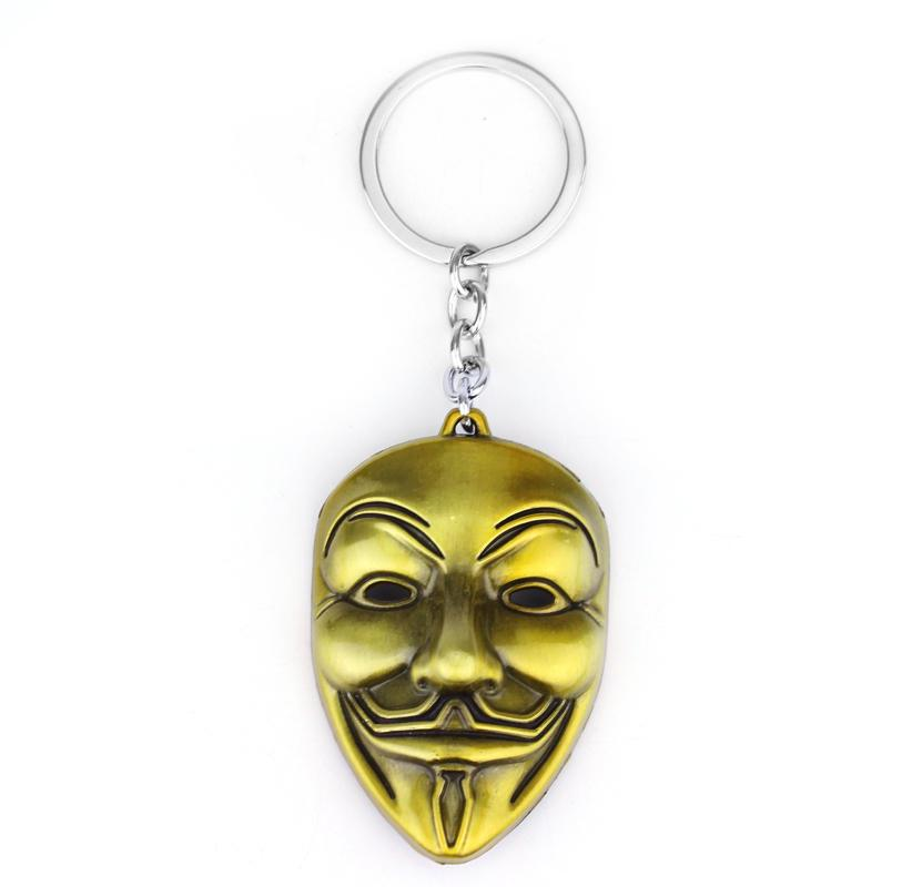 FREE Anonymous Guy Fawkes Alloy Keychain - Only Pay For Shipping!