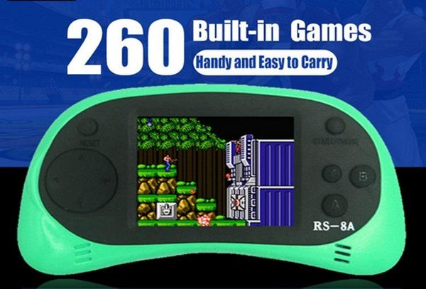 USB Rechargeable 2.5 Inch 8 Bit Handheld Game Console With Built In 260 Classic Games & TV Output