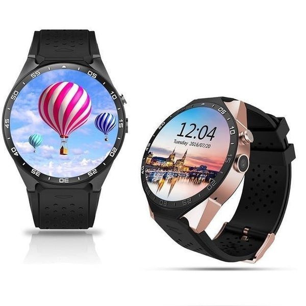 JARVIS KW88 Quadcore iOS Android Smartwatch Phone - SUPER AMOLED DISPLAY