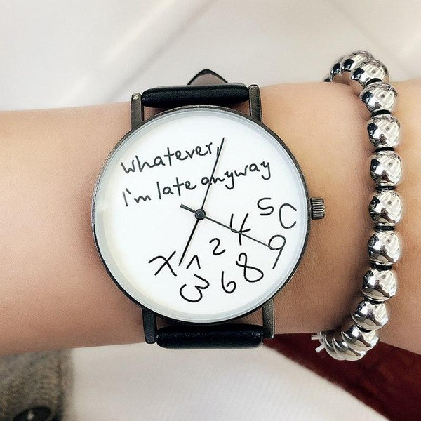 'Whatever, I'm late anyway.' - The Watch For The Relaxed & Cool (Big Face)