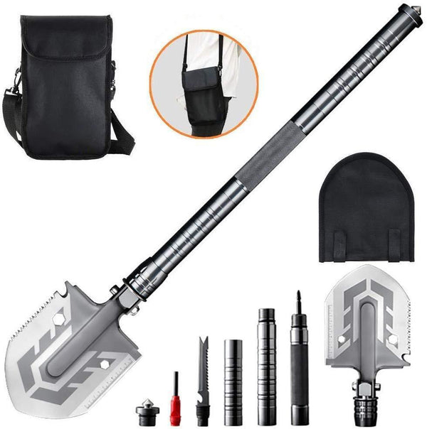 The Ultimate Survival Tool 25-in-1 Multi-Purpose Folding Shovel