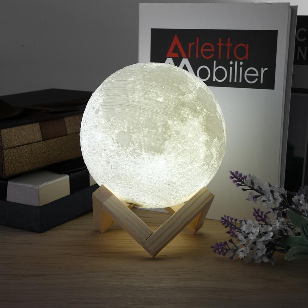 Enchanting moon led light 3 light modes wooden stand usb enchanting moon led light 3 light modes wooden stand usb rechargeable arubaitofo Gallery