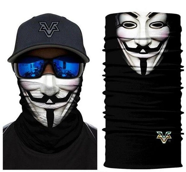 Anonymous Guy Fawkes Scarf Bandana - 3 Designs