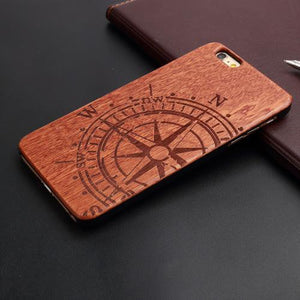 """Compass"" - Carved Wood Case for iPhone"