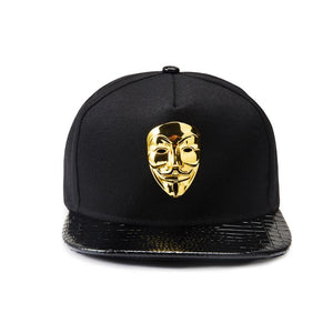 anonymous gold plated cap