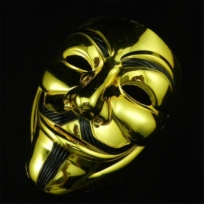 VIP Silver / Gold Anonymous Guy Fawkes Mask