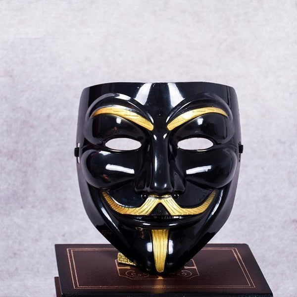 LIMITED EDITION: Black-Gold Anonymous Guy Fawkes Mask