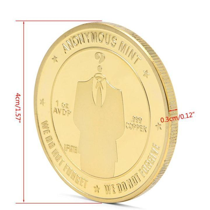 Anonymous Bitcoin Mint - Gold/Silver - 65 % OFF
