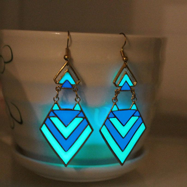 Geometric Glow in The Dark Earings