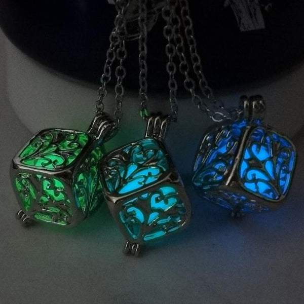 Glow in the Dark Cube Necklace