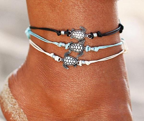 Turtle Anklet 3 Piece Set
