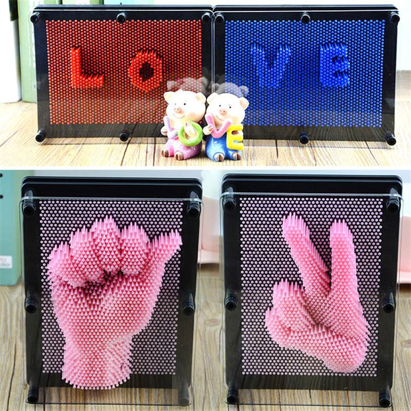 Plastic Pin 3d Mould  - 6 colors