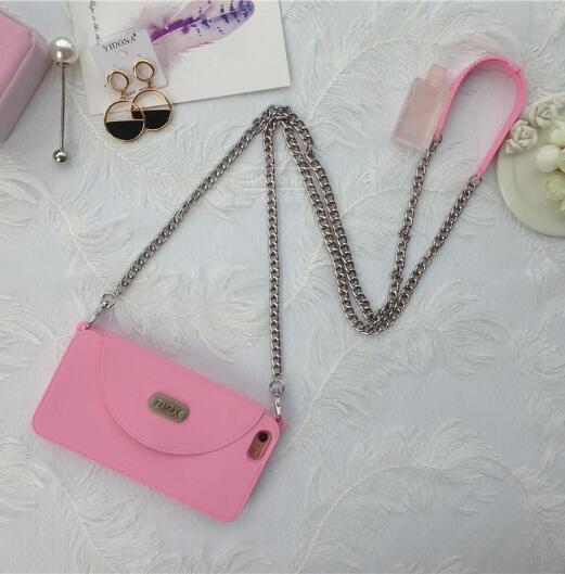 Crossbody iPhone Case with Black Chain