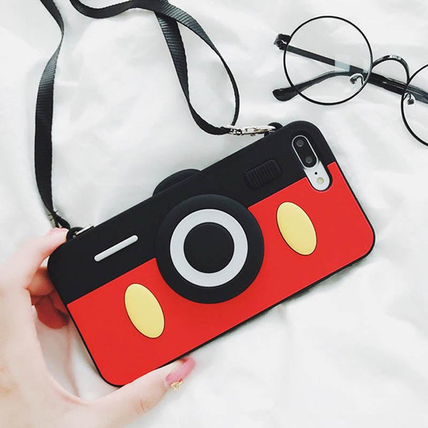 Crossbody iPhone Cute Camera Design Case