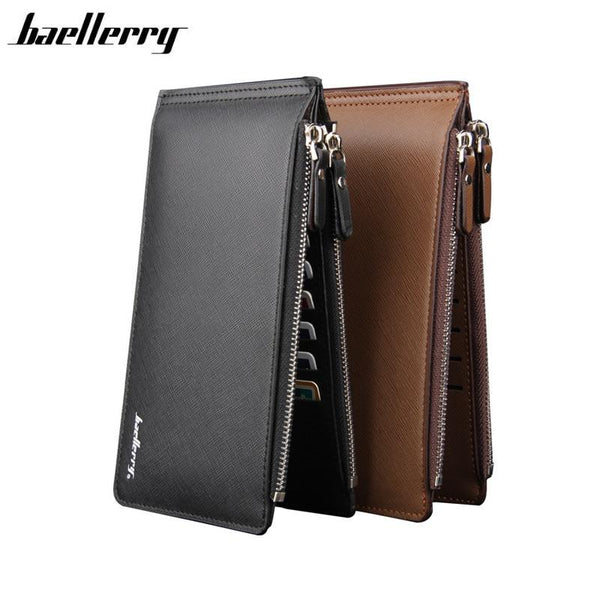 Haellerry Unisex Wallet Bifold Multi Card Case with Zipper Pocket
