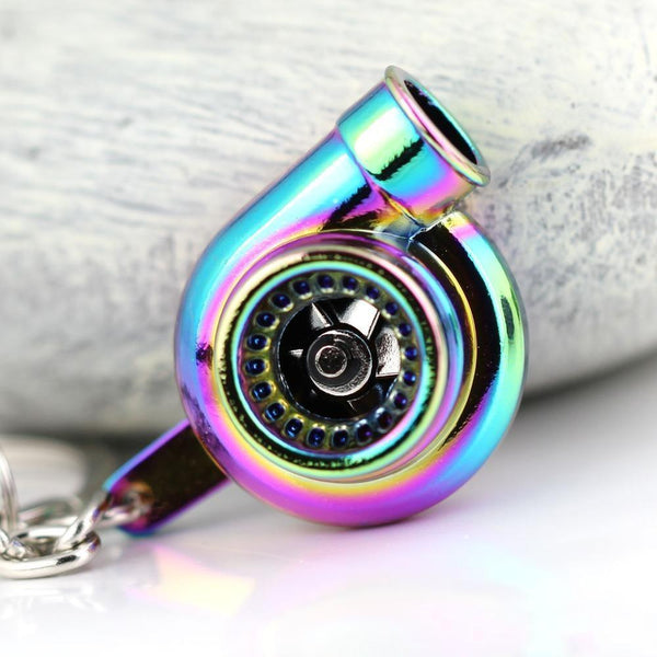 Real Spinning Turbocharger Keychain - Makes Sound
