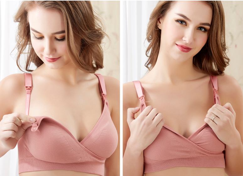 Soft Wireless Breastfeeding Nursing Bra