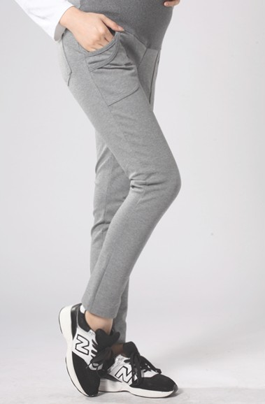 Sport Large yard Loose Straight Waist Maternity Pants