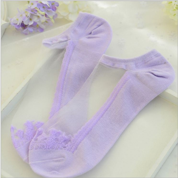 Transparent Lace Socks