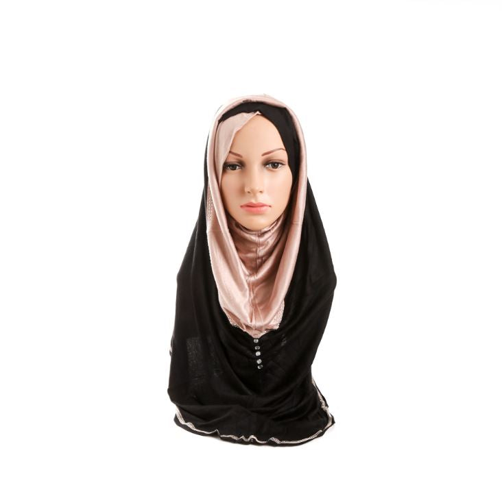New Women's Headscarf Wigs Color Cross Length Section Convenient Cover