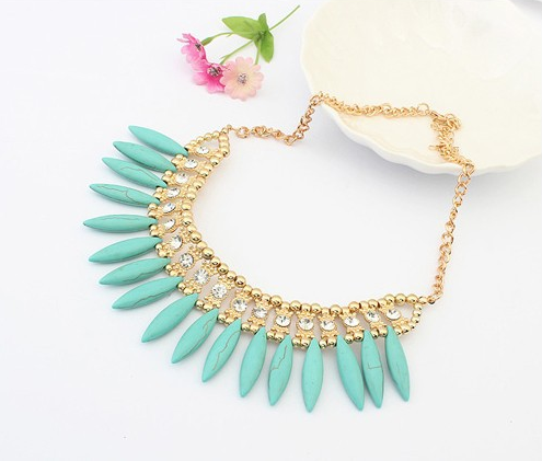 Bohemian Stone Short Necklace