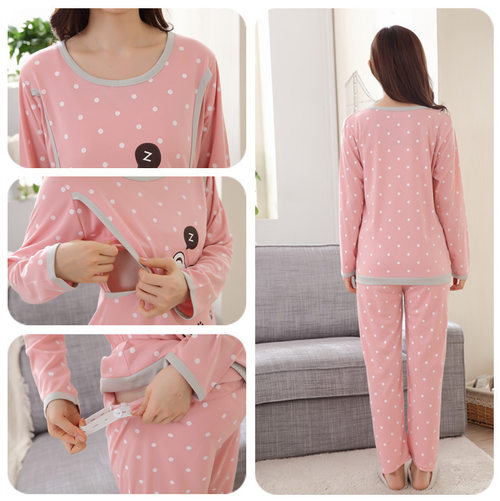 Nursing Pajamas - Bear Design