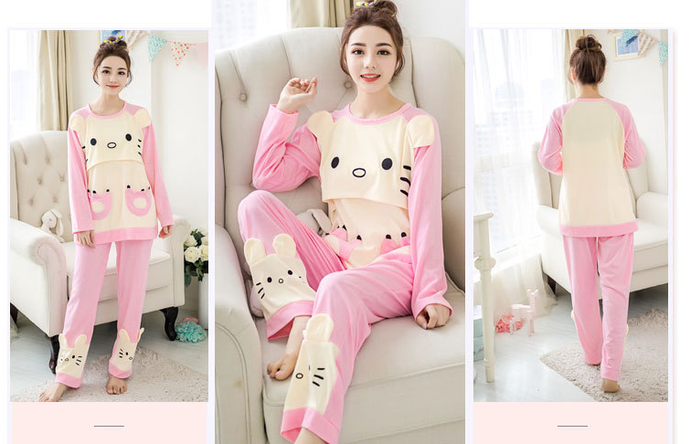Nursing Pajamas - Cat Design
