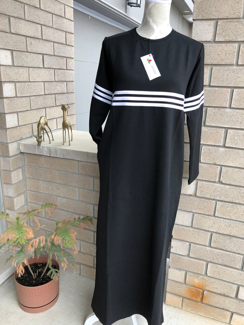 Dress - Sport - White Line - Black