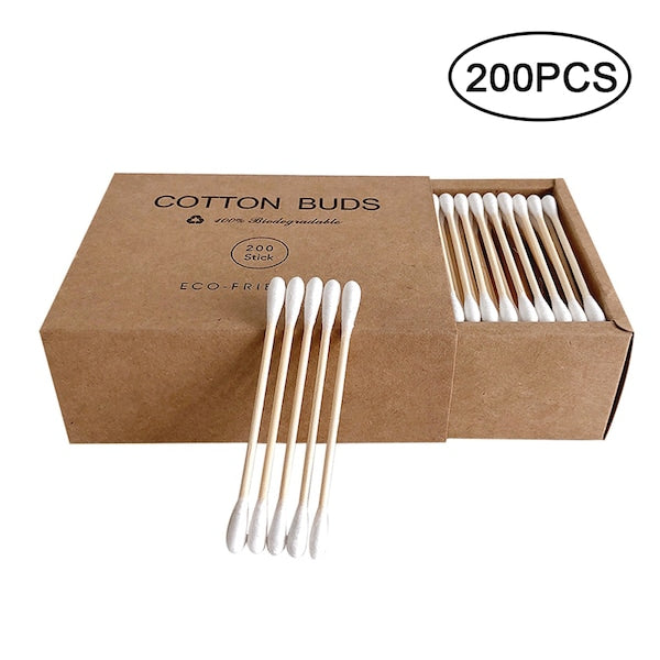Bamboo Cotton Buds -Biodegradable (200 Pieces)