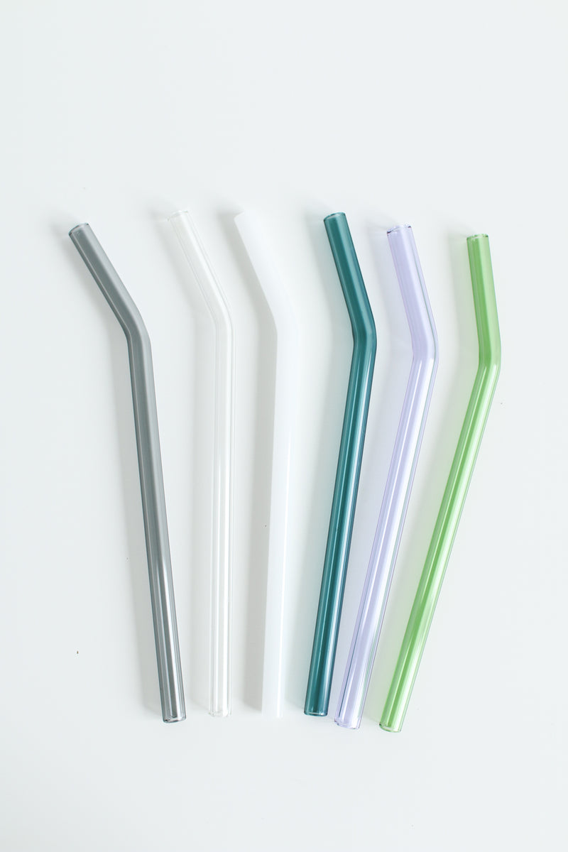 Individual Glass Drinking Straws- Bent