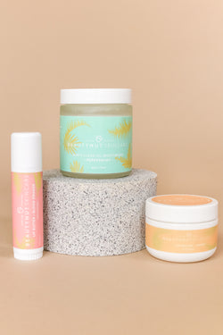 Revitalize + Refresh Bundle - Sugar Honey Lip Polish, Lip Butter, and Minty Clean Oil Pull