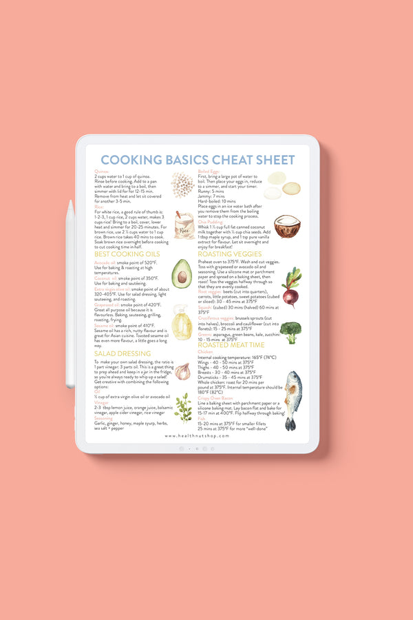 Cooking & Baking Basics Cheat Sheet