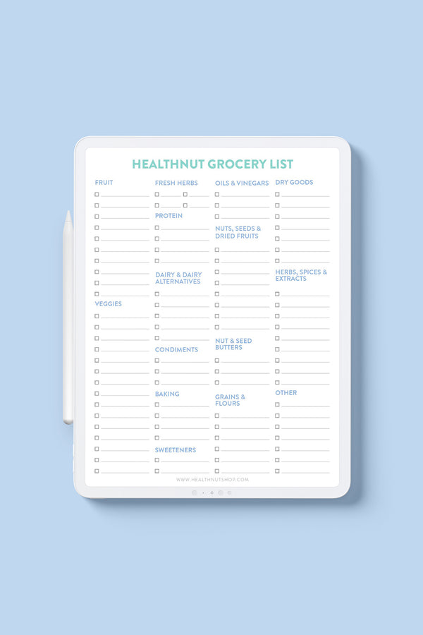 Meal Planner & Grocery List Bundle